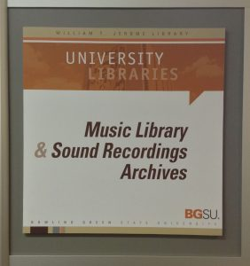 bowling green state university music library