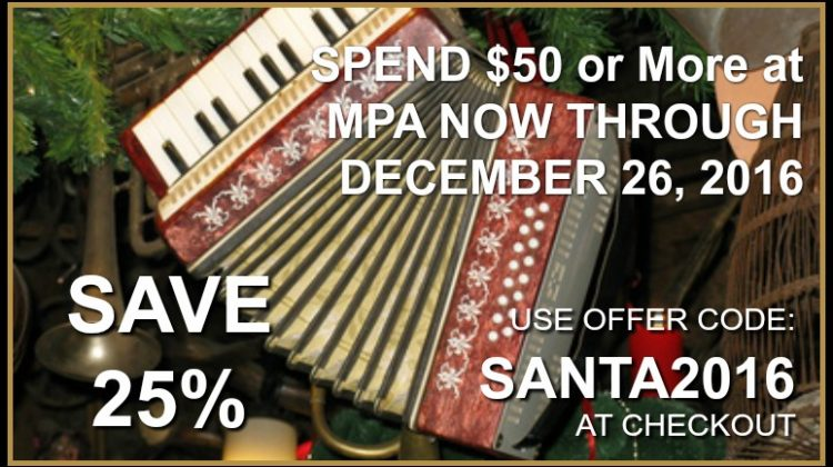 MUSIC FOR THE HOLIDAYS! AND AT A DISCOUNT, TOO!